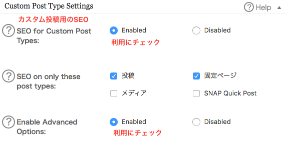 All in One SEO Packカスタムポストタイプ設定