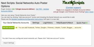 Social Networks Auto-Poster設定方法